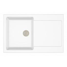 Гранітна мийка Idis Carex №2 780x500 White