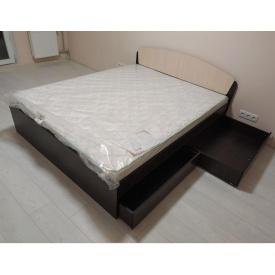 Ліжко двоспальне Асторія 160х200 з 4 ящиками Еверест