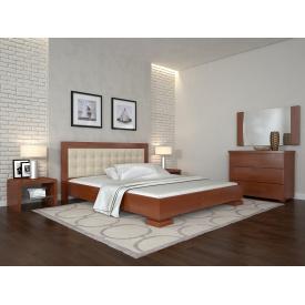 Двоспальне ліжко з дерева 160х200 щит Сосни Монако Яблуня локарно