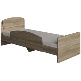 Ліжко односпальне 80х190 з боковим огорожею Асторія-2 Еверест Дуб соному+Трюфель