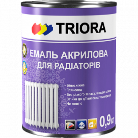 Емаль акрилова для радіаторів TRIORA 0,9 л