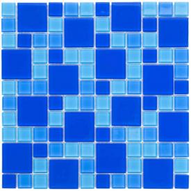 Мозаїка скляна Aquaviva Cristall Dark Blue DCM305 (23 мм - 48 мм)