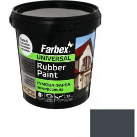 Гумова фарба Farbex графіт (1.2 кг)