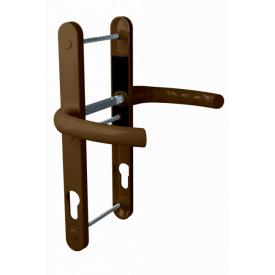 Нажимной гарнитур дверной ASTEX подпружиненный HERMES DHS 92/11 коричневый RAL 8019