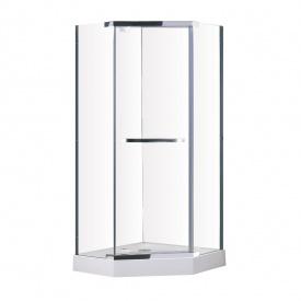 Talny душ кабина90x90x190 см стекладвери хром стекло прозрачное 10 мм ВЫПИСЫВАТЬ с набором 599-555/3 EGER 599-555/1