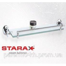 Полиця скляна для ванни з бортиком Starax