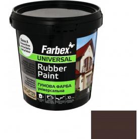 Гумова фарба Farbex коричнева (1.2 кг)