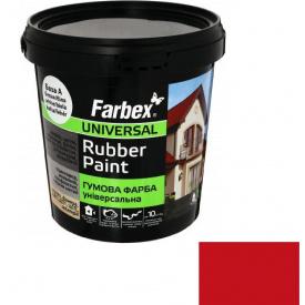 Гумова фарба Farbex червона (1.2 кг)