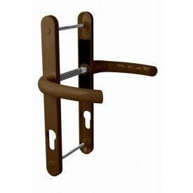 Нажимной гарнитур дверной ASTEX подпружиненный HERMES DHS 85/11 коричневый RAL 8019