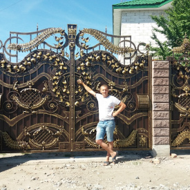 Ковані ворота ПП Брама Алсу