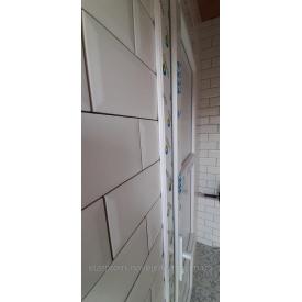 Лиштва дверна пластикова БІЛА 2,25-1м набір з кріпленням