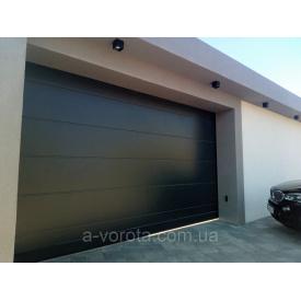 Сдвижные ворота из сендвич-панелей Alutech ads400 4600х2700 мм-антрацит с двух сторон