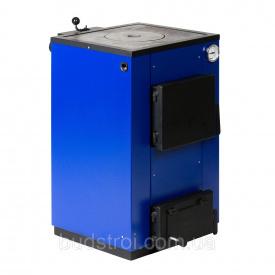 Твердотопливный котел Макситерм 12 кВт с плитой