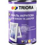 Емаль акрилова для вікон і дверей TRIORA 2,5 л