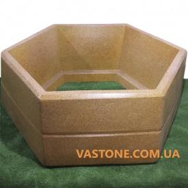 Вазон бетонный для цветов Каскад садовый Гранит желтый