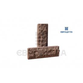 Фасадная плитка коричневая, размер 200х65х20мм