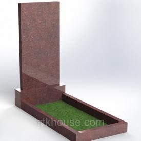 Памятник из Токовского гранита 1000x500x60