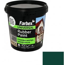 Гумова фарба Farbex зелений (1.2 кг)