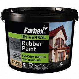 Гумова фарба Farbex біла (6 кг)