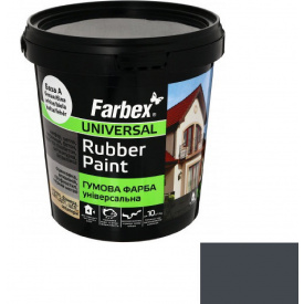 Гумова фарба Farbex графіт (3.5 кг)