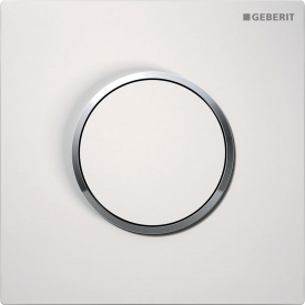 Система пневматического управления смывом писсуара Geberit клавиша Sigma10 цвет белый и хром глянцевый 116.015.KJ.1