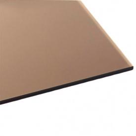 Монолитный поликарбонат Bauglas с УФ защитой 3мм бронзовый