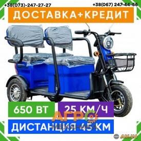 Электрический скутер трехколесный VEGA HELP 650