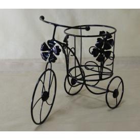 Подставка для цветов Холодная ковка Велосипед 1 Мальва