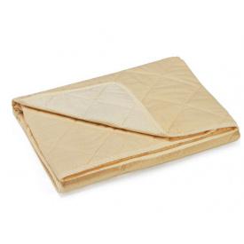 Одеяло детское хлопковое Руно Медвежата летнее желтое 140x105 см