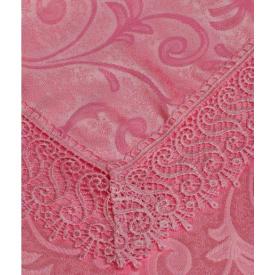 Скатертина Arya в коробці з гіпюром 160x220 см Fianco темно-рожева