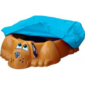 Песочница-бассейн оранжевая Собачка PalPlay с накрытием