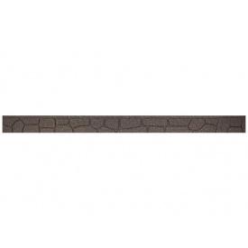 Декоративний бордюр для саду MultyHome Каміння 2х3,5х120 см сіро-коричневий