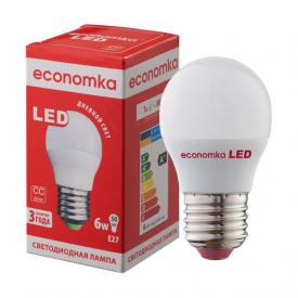 Светодиодная лампа Economka LED G45 6W E27 4200K