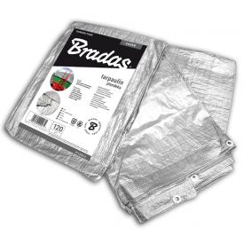Тент посилений Bradas тарпаулін SILVER 120 гр/м2 5x8 м PL1205/8