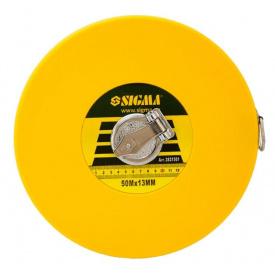 Рулетка скловолокно Sigma 50мх13мм (3831501)