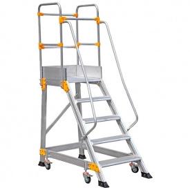 Лестница с платформой передвижная VIRASTAR алюминиевая 5 ступеней (EP4)