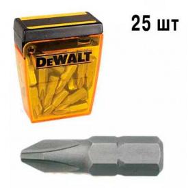 Биты торсионные DeWALT Extra Grip Ph2, 25 мм, 25 шт (DT70526)