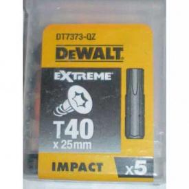 Биты ударные DeWALT IMPACT TORSION Т40, 25 мм, 5 шт (DT7373)