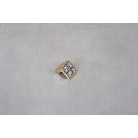 Меблева ручка Giusti РГ 64 WPO550.016.KRGP золото глянсове