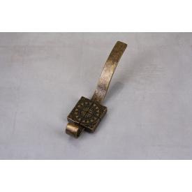 Мебельный крючок Falso Stile KK-7 двойной- старое золото