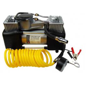 E-81-118 Миникомпрессор автомобільний двухпоршневой 12 В 12 бар 60 л/хв наборадаптеров (3 шт)
