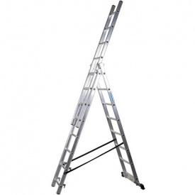 Лестница трехсекционная расскладная VIRASTAR DW 3 PROFI LIGHT алюминиевая 3x8 (DW3x8)