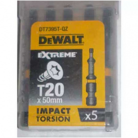 Биты ударные DeWALT IMPACT TORSION Т20, 50 мм, 5 шт (DT7395T)