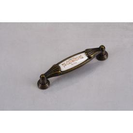 Ручка мебельная Falso Stile РК-431старое золото с керамикой