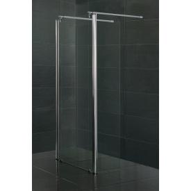 Стенка с подвижным профилем 350x1900 мм каленое прозрачное стекло 8мм VOLLE 18-09-35