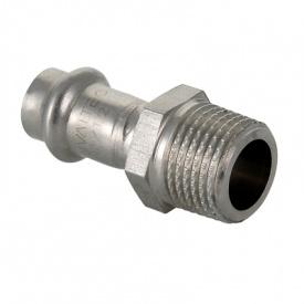 Пресс фитинг из нержавеющей стали с наружной резьбой 22 мм 1/2 Valtec VTi.901.I.002204