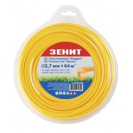 Леска для триммера Зенит Квадрат 2,7мм/64м (40427064)