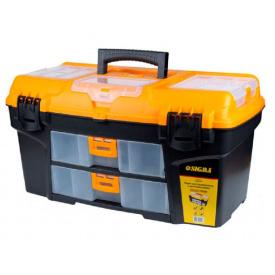 Ящик для інструменту зі знімними органайзерами і консоллю Sigma 564х310х310мм (7404141)