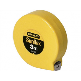 Рулетка STANLEY Sunflex 3 м без фиксатора (0-32-189)