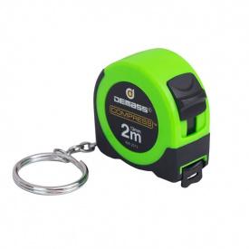 Рулетка измерительная Demass Compress mini 2мx13мм, зеленый (RW 2013G)
